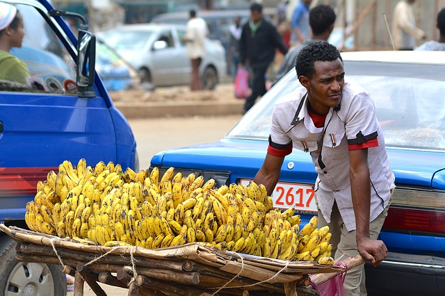 prodejce banánů