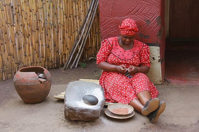 afričanka v šatech
