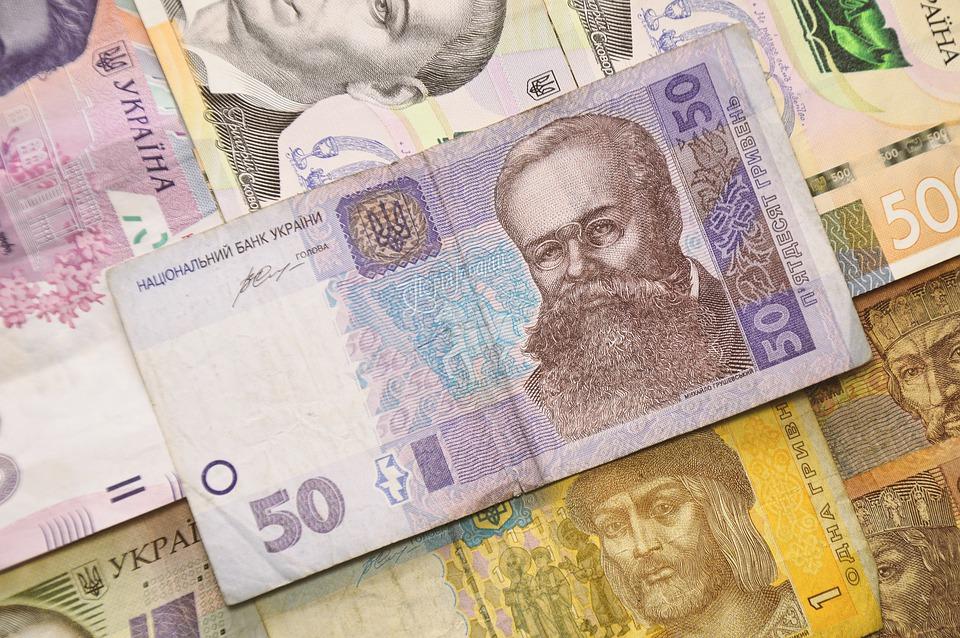 peníze Ukrajiny